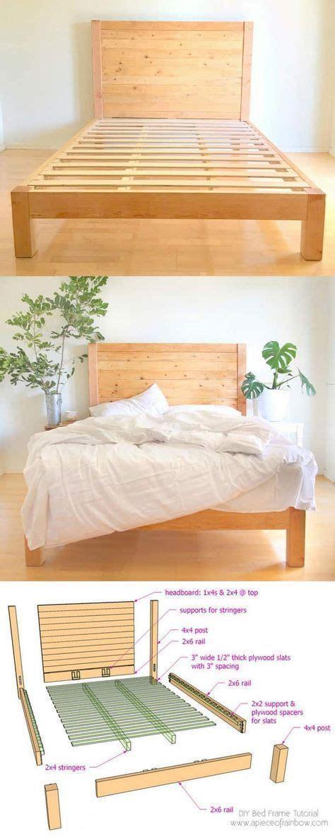 diy bed frame wood headboard