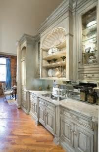distressed white kitchen cabinets chalk paint tina had this habersham kitchen image in her post