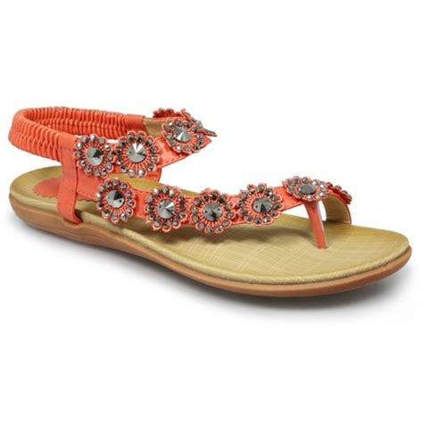 sendal wedges santai l56 orange lunar womens orange sandals buy at marshall shoes
