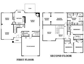3 bedroom 2 story house plans 5 bedroom house plans 2 story photos and