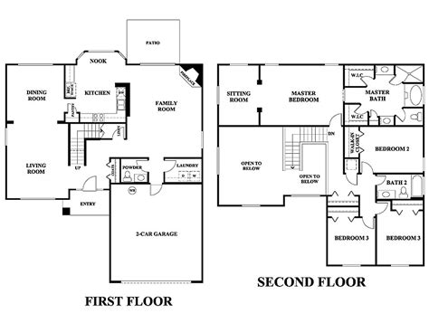 2 floor building plan 2 floor house plans numberedtype