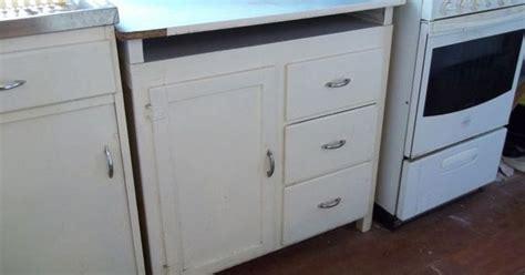 vintage retro 1950 s kitchen floor cabinet door drawers