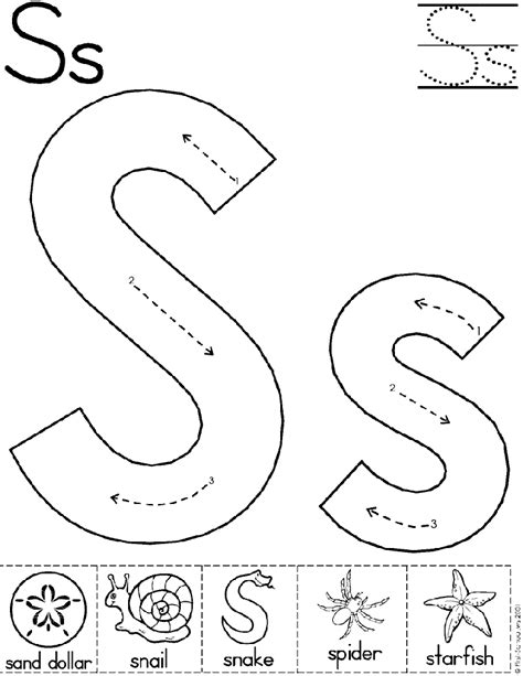 S Worksheet by Alphabet Letter S Worksheet Standard Block Font Preschool Printable Activity Early