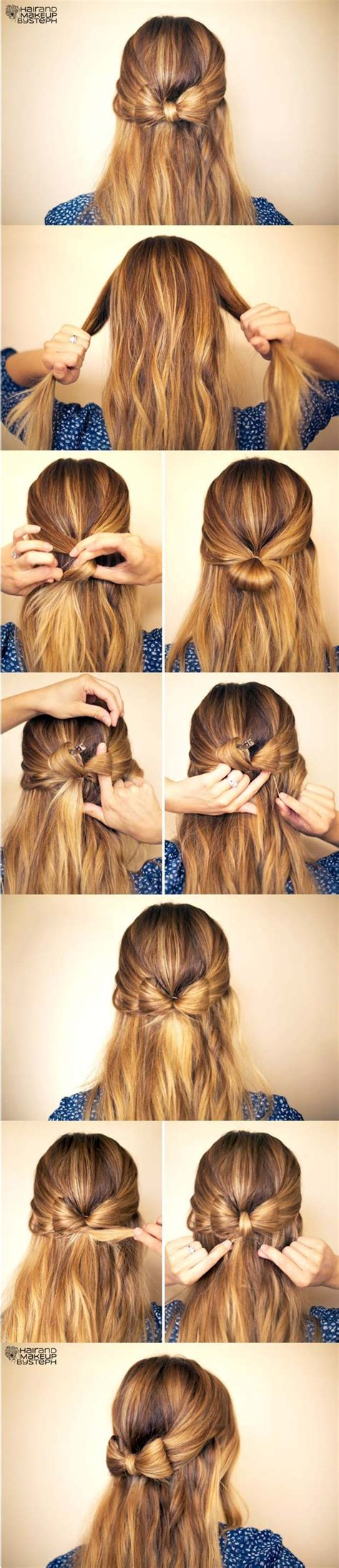 hairstyles cute bow 19 pretty long hairstyles with tutorials pretty designs