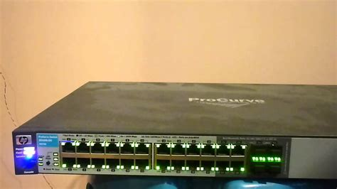reset procurve 2520 to factory defaults hp procurve switch 2510g 24 j9279a fault youtube