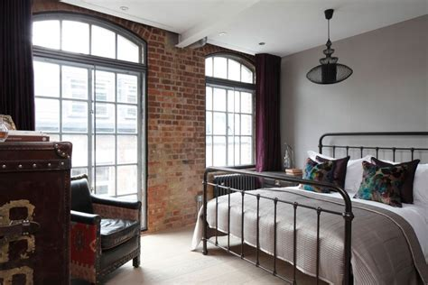apartment bedroom sophisticated industrialism revealed in a london apartment