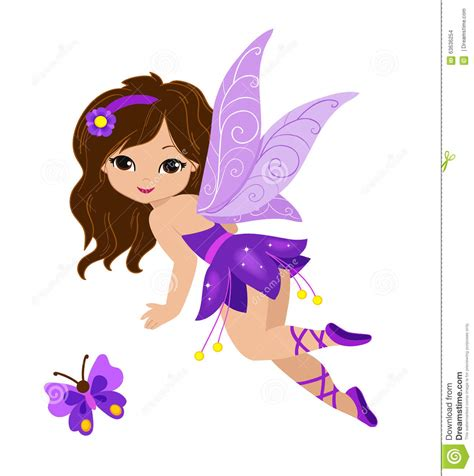 fee clipart illustration of a beautiful purple stock vector