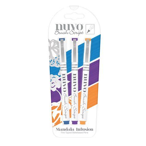 Papercraft Supplies Uk - tonic nuvo brush script pens mandala infusion