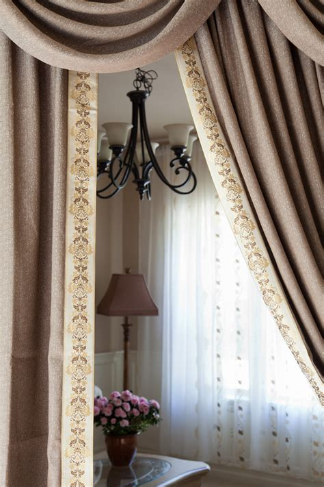 espresso curtains shimmering espresso swag valance curtain set 100 inch