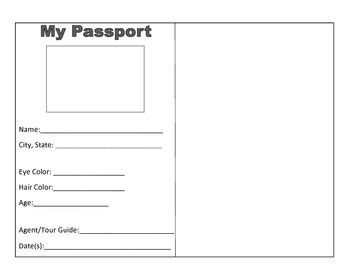 activity pass card template continent passport activity assessment by jen r tpt