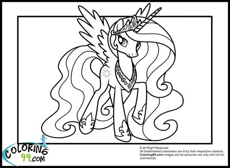 coloring page my little pony princess my little pony princess celestia coloring pages minister