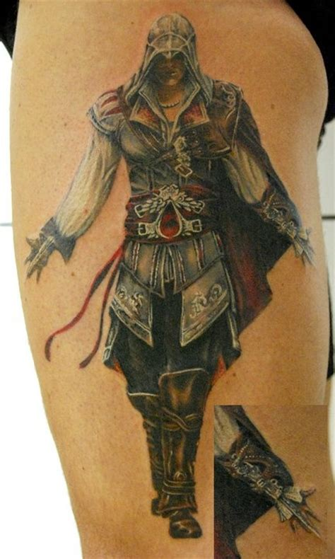 assassins creed tattoo awesome assassins creed tattoo gaming pinterest