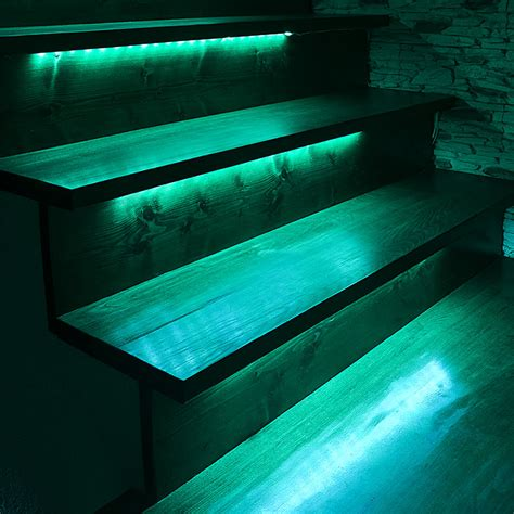 Led Light Strips For Outdoor Use Outdoor Steps And Railing Led Lighting Kit Weatherproof Multi Remote Activated Rgb Color