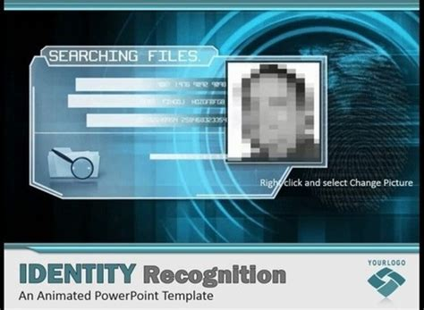 Cybercrime Powerpoint Template With Face Recogn Cyber Crime Ppt Templates Free