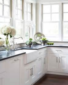 white kitchen cabinets with black granite countertops black pearl granite countertops with white cabinets
