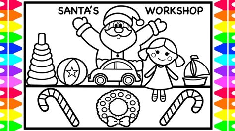 santa coloring sheets how to draw santa toys santa coloring pages for