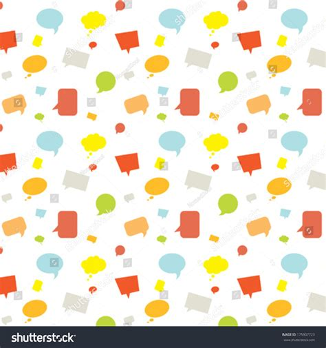speech pattern en français seamless pattern cartoon speech bubbles stock vector