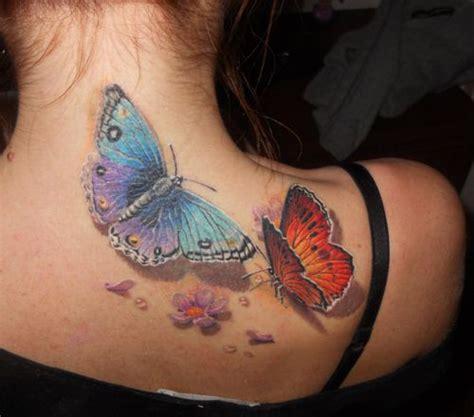 ik wil graag een tattoo van een vlinder of bloem of combi