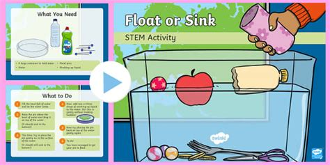 What Is Floating And Sinking by Float Or Sink Powerpoint Make A Splash Stem Ks1