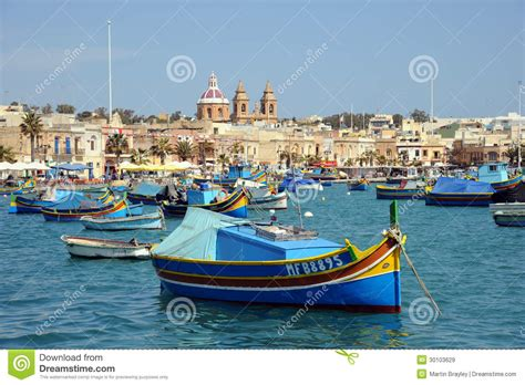 maltese boat maltese luzzu fishing boats malta editorial stock image