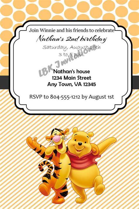 Custom Winnie The Pooh custom winnie the pooh and tigger birthday