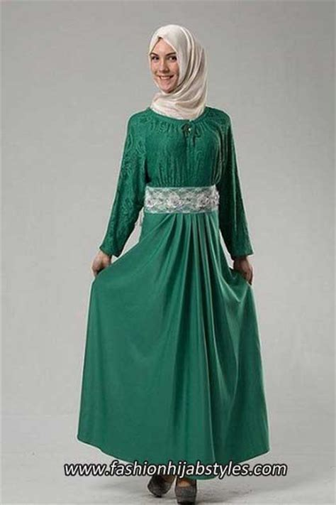 Abaya Bordir green fashion models bordir gaun jilbab new