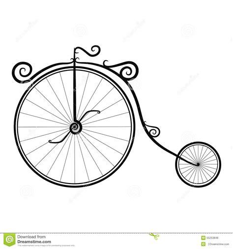 imagenes retro en blanco y negro bicicleta blanco y negro del vintage en un fondo blanco