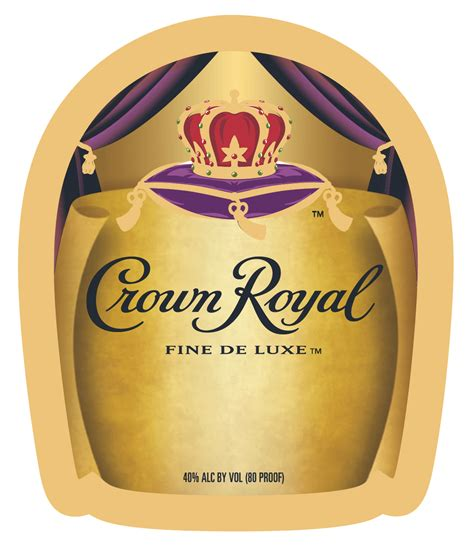 1 75 L Crown Royal Deluxe Label Crown Royal Labels Crown Royal Label Template