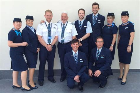 Thompson Cabin Crew by Co Pilots Flight With His To Honour His
