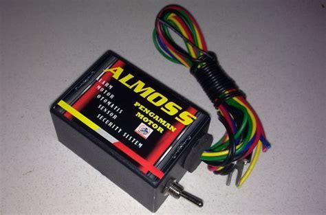 Alarm Motor Almoss menambahkan sensor sentuh rahasia sebagai pengaman motor