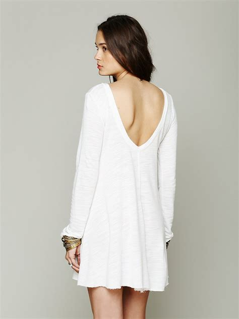 free people long sleeve swing dress free people long sleeve swing dress in white lyst