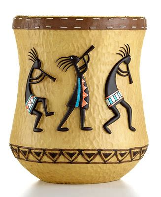 Kokopelli Bathroom Accessories Avanti Quot Kokopelli Quot Trash Can Bathroom Accessories Bed Bath Macy S