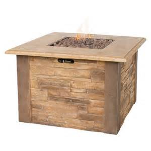 Lp Gas Firepits Uniflame Faux Stacked Lp Gas Pit With Target