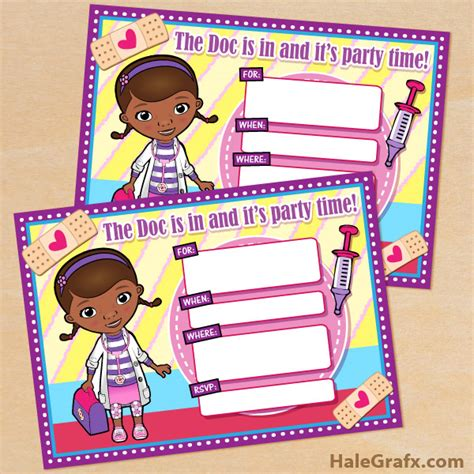 free doc mcstuffins invitation templates free printable disney doc mcstuffins birthday invitation