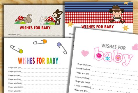 wishes for baby printable template free printable wishes for baby cards