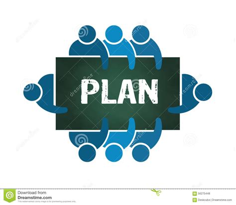 planning pic group of people planning logo stock vector image 56275448