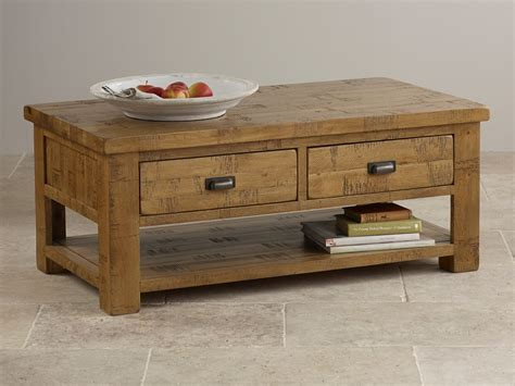 ripley sawn solid oak 4 drawer storage coffee table
