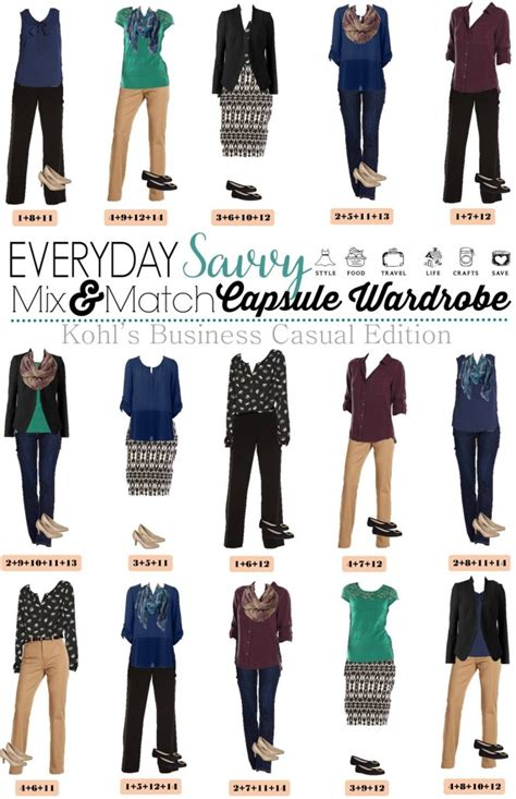 Mix And Match Wardrobe Pieces by Kohls Business Casual Capsule Wardrobe For Fall Business