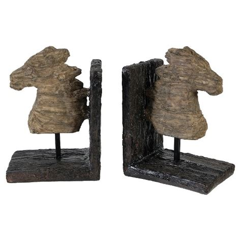 bookends target set of 2 rustic horse bookends target