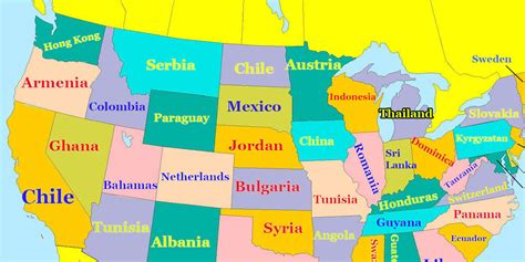 map of states map how every u s state ranks in education