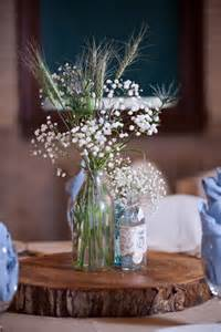 rustic jar centerpieces for weddings rustic wedding centerpiece wood slab vintage bottle