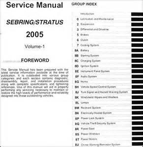 2005 sebring sedan amp convertible stratus sedan repair