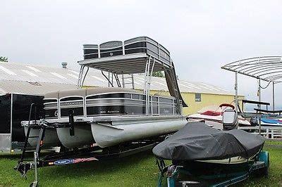 deck boat with slide pontoon slide boats for sale