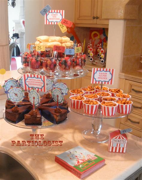 carnival themed food the partiologist chocolate peanut butter cheesecake