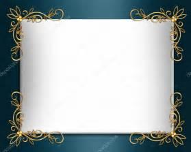 wedding invitation border elegant satin stock photo