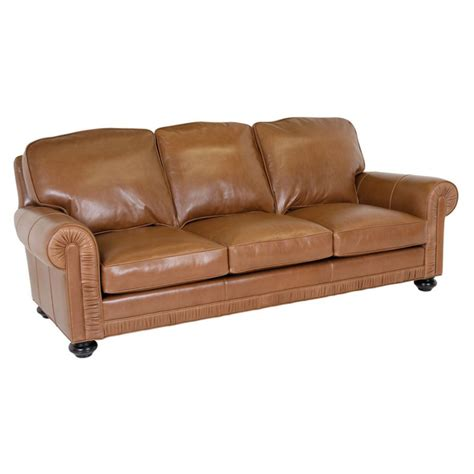 Classic Leather Sofa Classic Leather 8208 Chambers Sofa Discount Furniture At Hickory Park Furniture Galleries