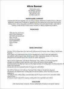 Sle Resume For Experienced Software Engineer In Mainframe Professional Software Engineer Resume Templates To Showcase Your Talent Myperfectresume