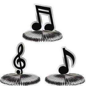 centros de mesas de notas musicales para 15 detalles para tu fiesta de 15 estilo rockero chica de 15