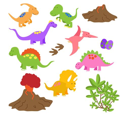 printable dinosaur art dinosaur clip art clipart commercial and personal 6 00