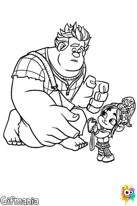 Desenho Vanellope e Ralph
